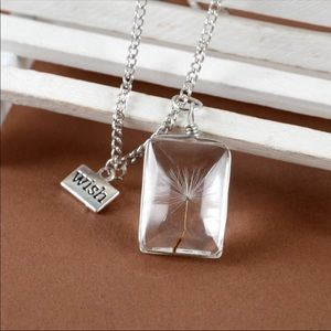 Wish dandelion necklace